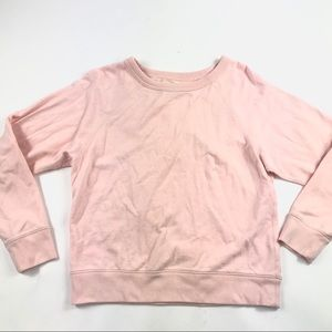 Everlane French Terry Pullover Sweatshirt Pink